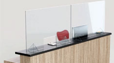 Acrylschutzwand für den Arbeitsplatz/Thekenaufstellerstuttgart